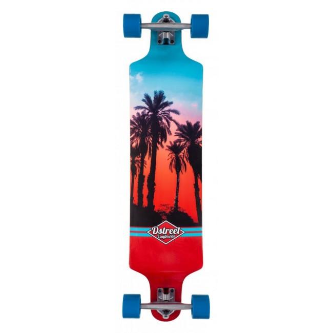 D Street Drop Down Hawaiian Crusier Skateboard 38