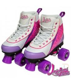 Luscious Retro Quad Skates Purple Punch