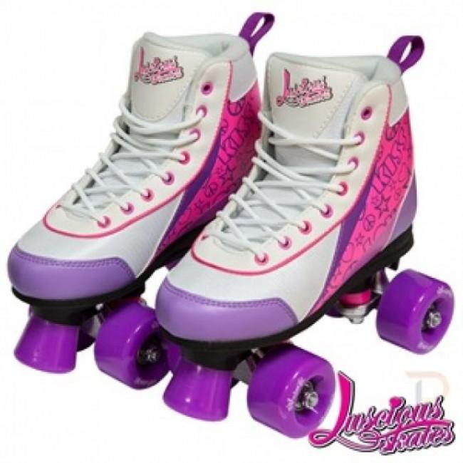 Luscious Retro Quad Skates Purple Punch