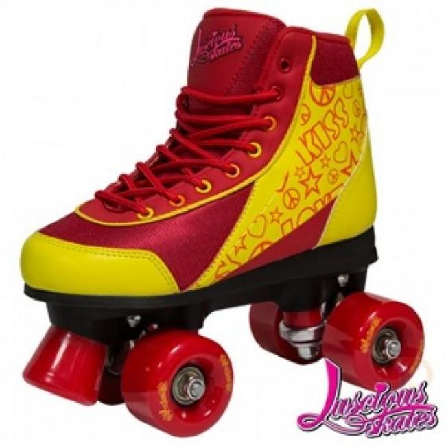 Luscious Retro Quad Skates Ruby Reds