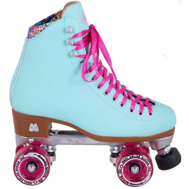 Moxi Beach Bunny Quad Roller Skates Sky Blue