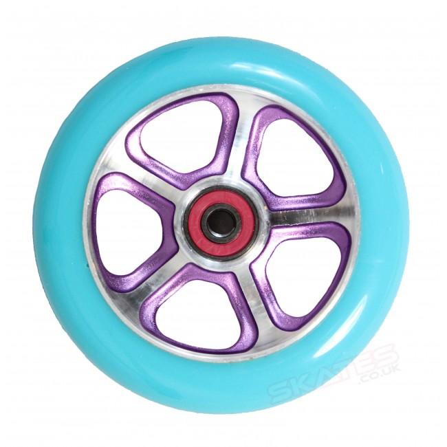 MGP DDAM CFA Scooter Wheels Purple/Turquoise 110mm