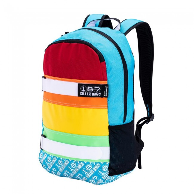 187 Killer Pads Standard Issue Back Pack Rainbow