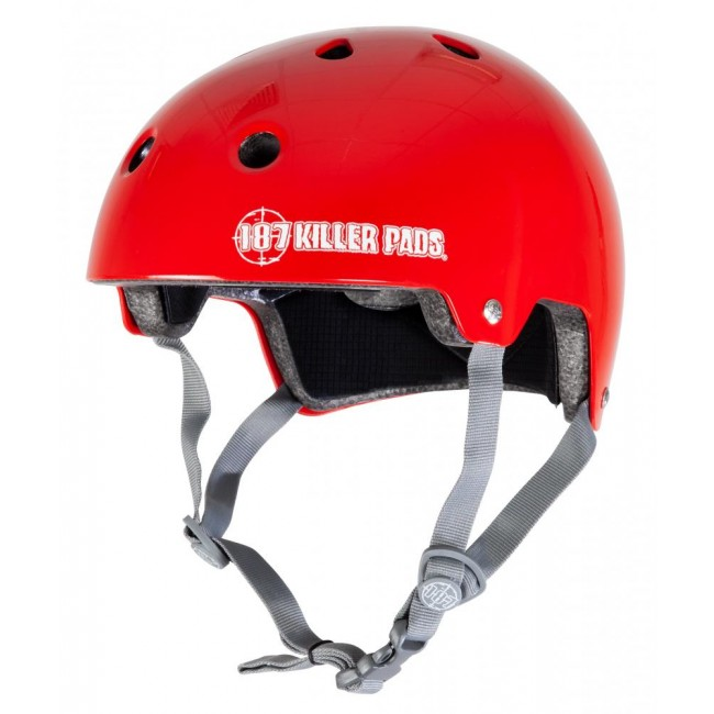 187 Killer Certified Helmet Gloss Red