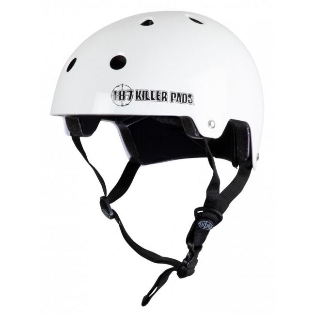 187 Killer Certified Helmet Gloss White