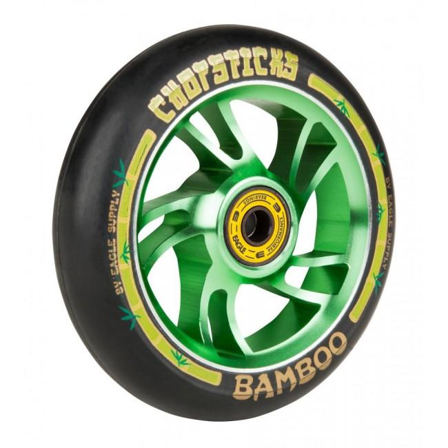 Eagle Chopstick Bamboo Black/Green Scooter wheel 110mm