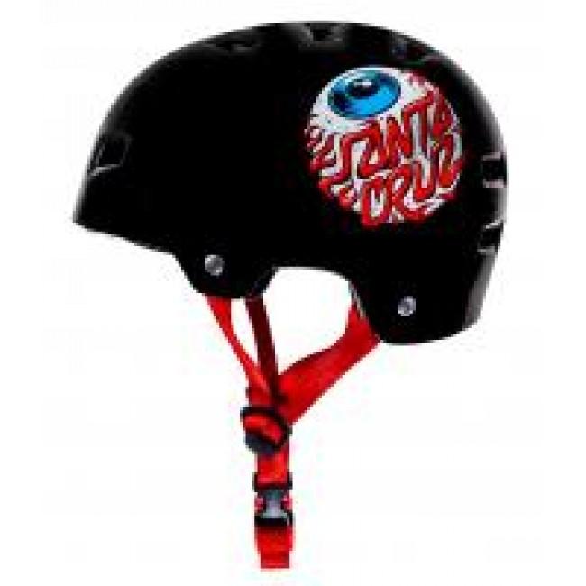 Bullet X Santa Cruz Eye Ball Youth Helmet Gloss Black 49-54cm