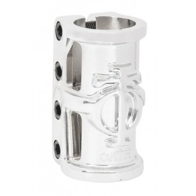 Oath Cage SCS Scooter Clamp Neo Silver