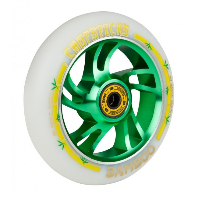 Eagle Chopstick Bamboo White/Green Scooter wheel 110mm