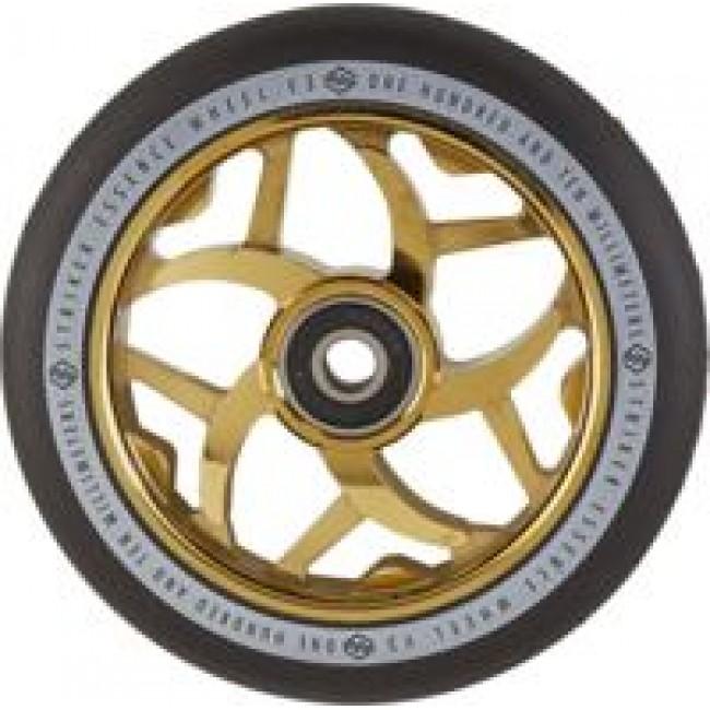 Striker Essence V3 Scooter Wheel Black Gold/Chrome 110mm
