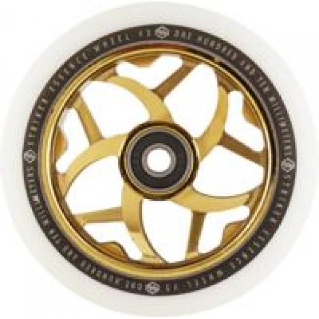 Striker Essence V3 Scooter Wheel White/Gold Chrome 110mm
