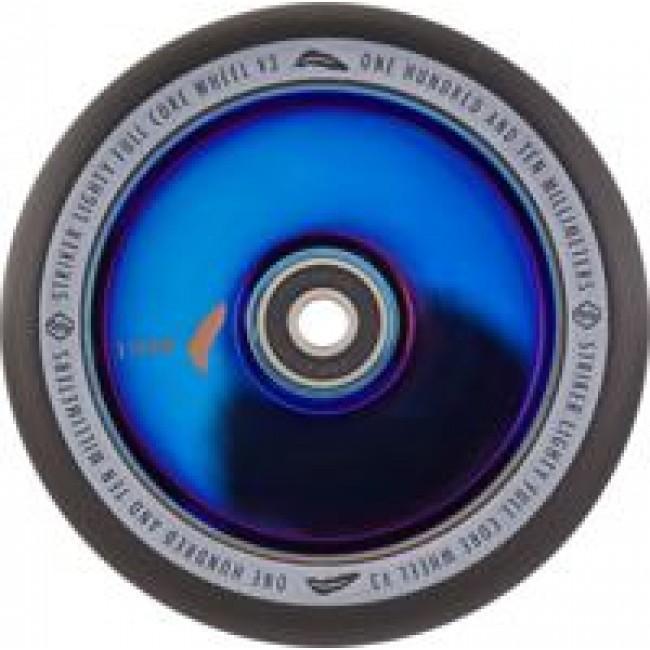 Striker Lighty Full Core V3 Scooter Wheel Black/Blue Chrome 110mm