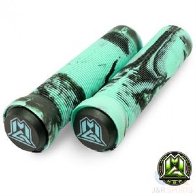 MGP Swirl Grind Grips 150mm Teal/Black