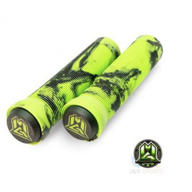 MGP Swirl Grind Grips 150mm Green/Black