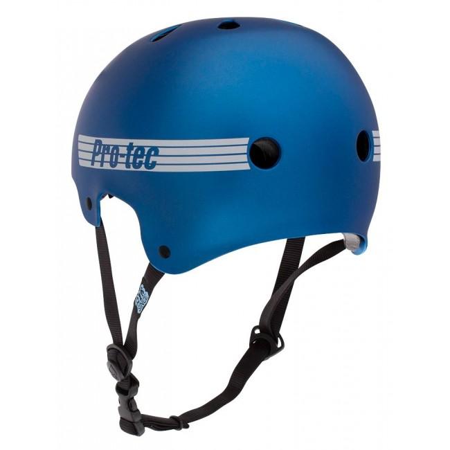 ProTec Old School helmet Matte Metallic Blue