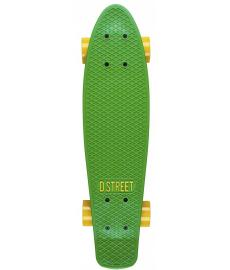 D Street Polyprop Cruiser Skateboard 3rd Gen Green/Yellow 23""