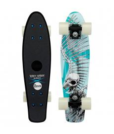 Penny Hawk Full Skull Cruiser Skateboard Blue 22""