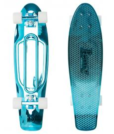 Penny Blue Metallic Solid Cruiser Skateboard 27""
