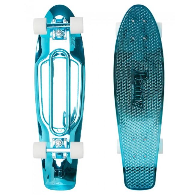 Penny Blue Metallic Solid Cruiser Skateboard 27
