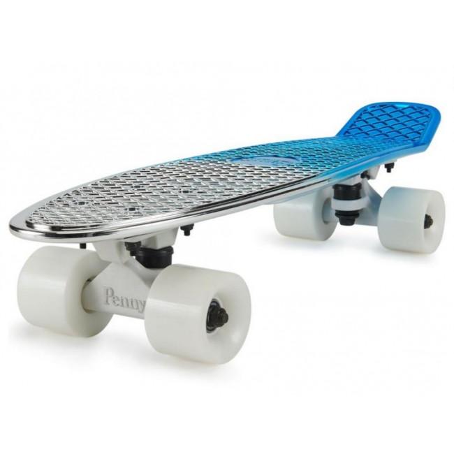 Penny Blue Silver Metallic Fade Cruiser Skateboard 22