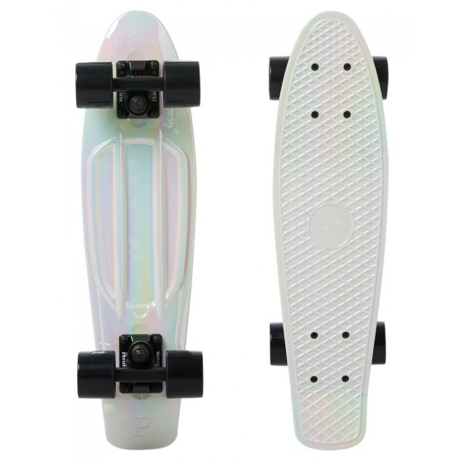 Penny White Pearl Metallic Cruiser Skateboard 22