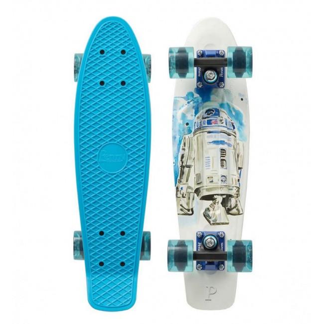 Penny R2D2 Cruiser Skateboard Blue/White 22