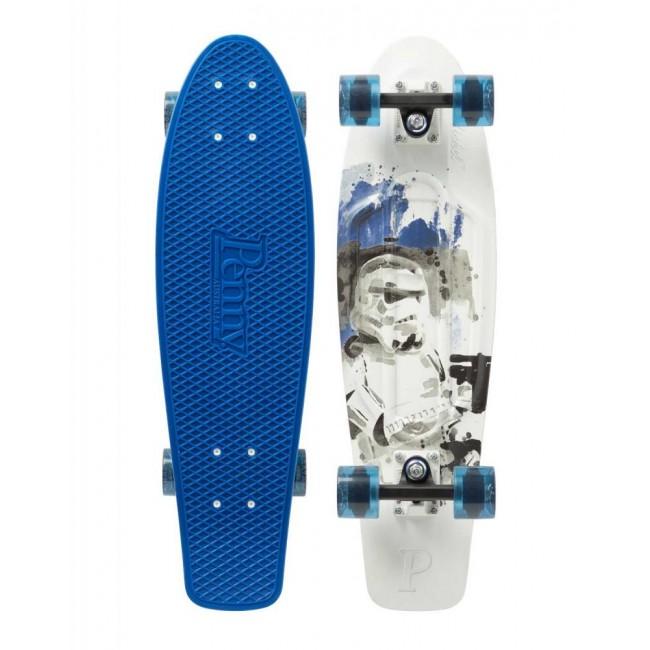 Penny Storm Trooper Cruiser Skateboard Blue/White 27
