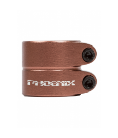 Phoenix Smooth Double Clamp Anodized Bronze
