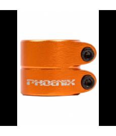 Phoenix Smooth Double Clamp Anodized Orange
