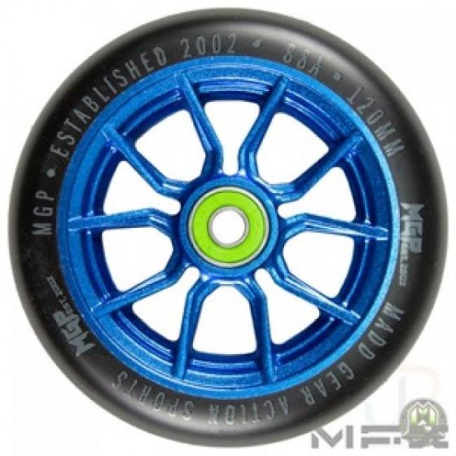 MGP MFX Syndicate AR120 Scooter Wheels Blue/Black Pair