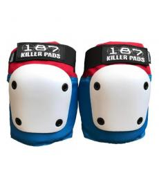 187 Fly Knee Pads Large Red/White/Blue