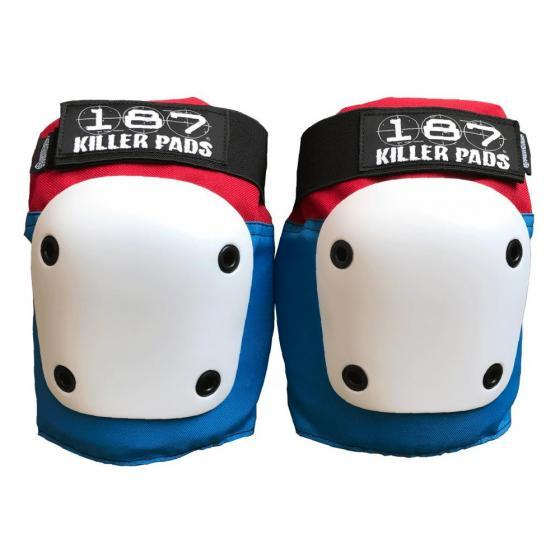 187 Fly Knee Pads X Large Red/White/Blue