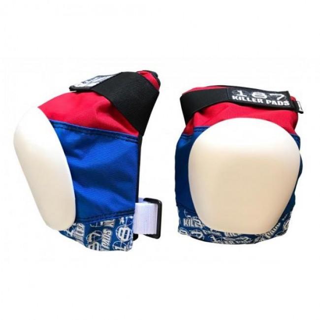 187 Killer Pro Knee Pads Red/White/Blue
