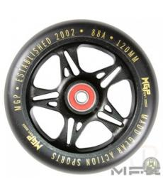 MGP MFX Fuse Scooter Wheels 120mm Black/Gold
