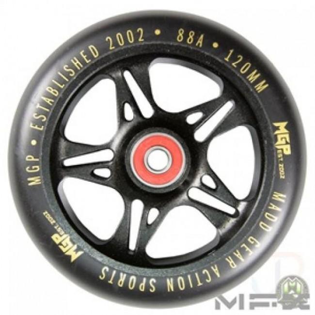 MGP MFX Fuse Scooter Wheels 120mm Black/Gold