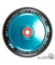 MGP MFX Corrupt Scooter Wheels 110mm Teal/Black PAIR