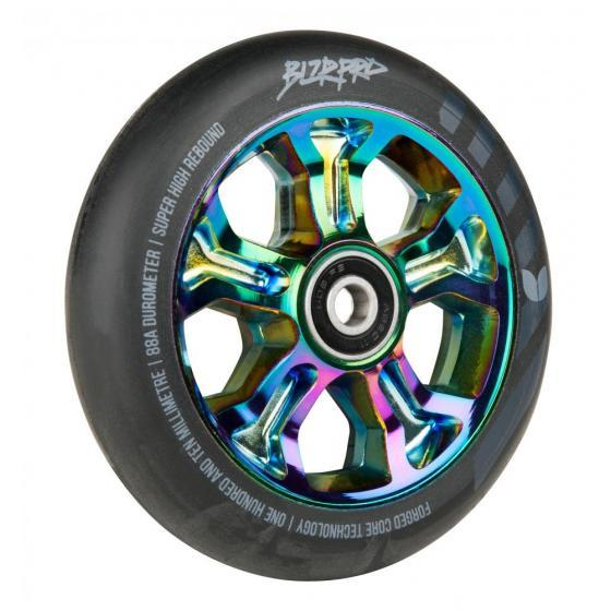 Blazer Pro Rebellion Forged Scooter Wheel Black/Neo Chrome 110mm