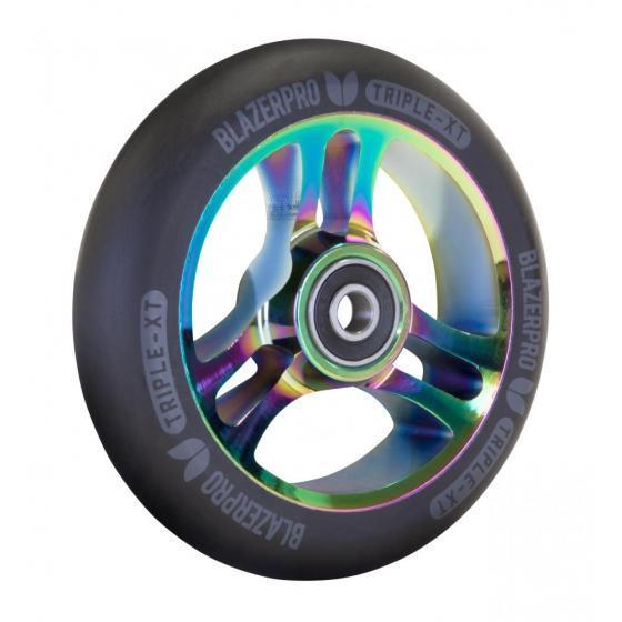 Blazer Pro Triple XT Scooter Wheel Black/Neo Chrome 110mm