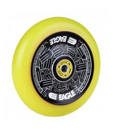 Eagle Radix Full Hollowtech Scooter Wheel Black/Yellow Med 115mm