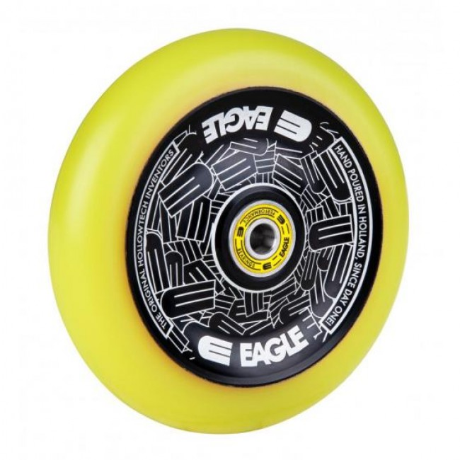 Eagle Radix Standard Hollowtech Scooter Wheel Black/Yellow Med 115mm
