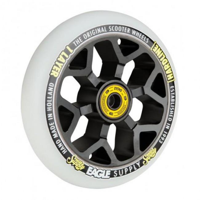 Eagle Hardline 1L 6M Snowballs Scooter Wheel Black/White110mm