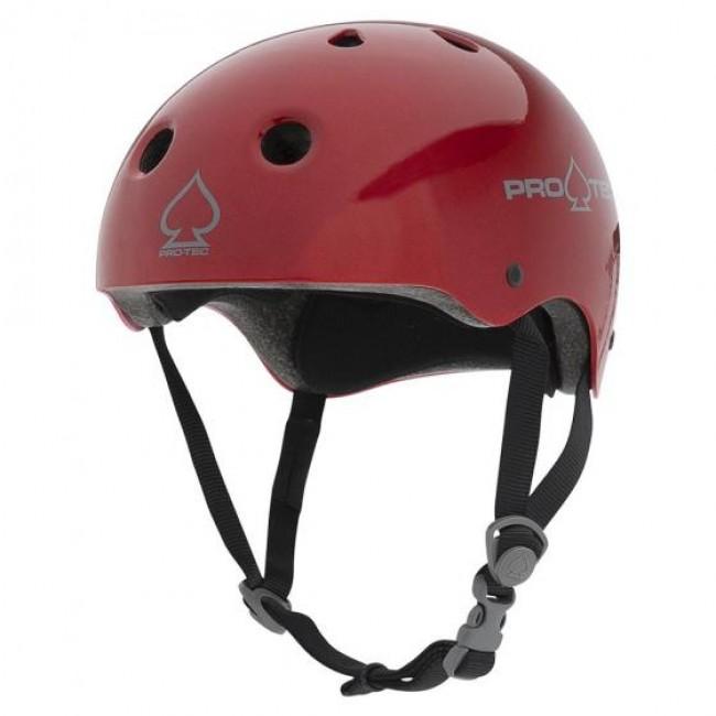 Protec Classic Certified Helmet Red Flake