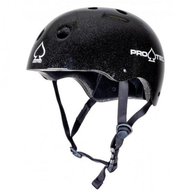 Protec Classic Certified Helmet Black Metal Flake