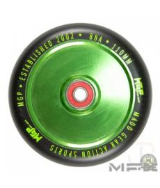 MGP MFX Corrupt Scooter Wheels 110mm Green/Black PAIR