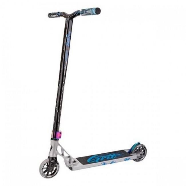 Grit Invader Stunt Scooter Polished/Blue/Silver Laser