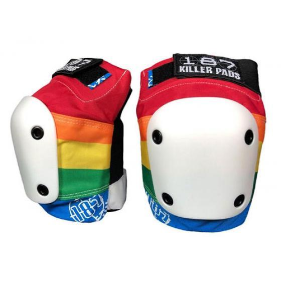 187 Killer Slim Knee Pads Rainbow Small