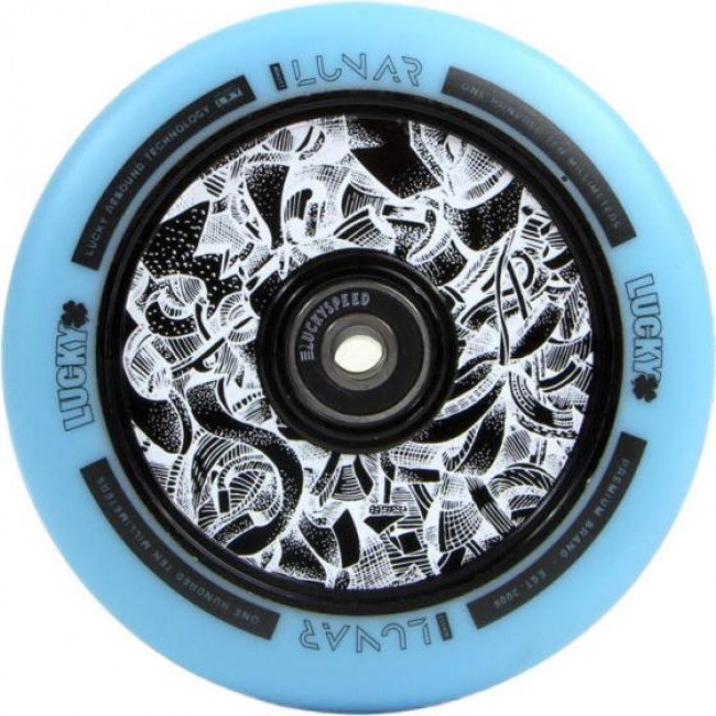 Lucky Lunar Axis Black/Teal Scooter Wheel 110mm
