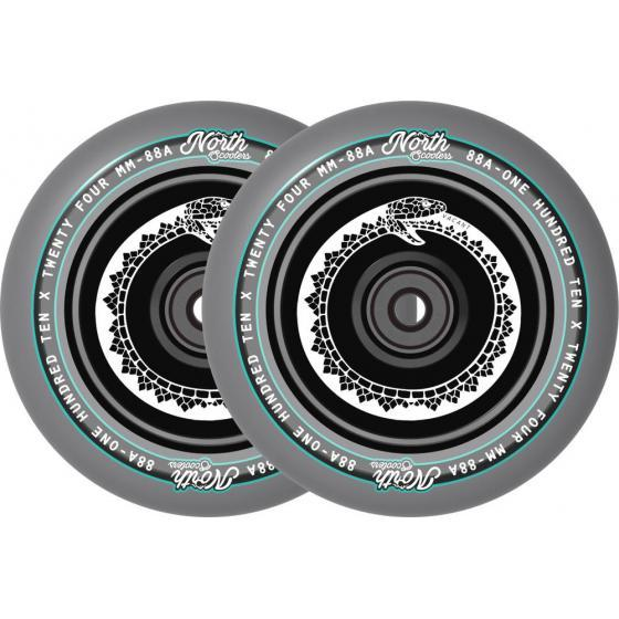 North Vacant Pro Scooter Wheels Black Chrome 2 Pack