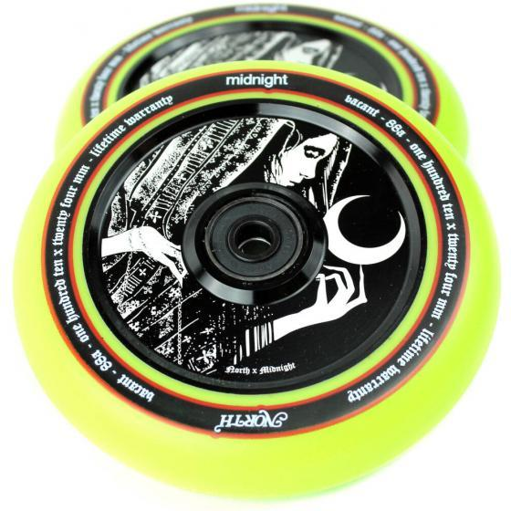 North X Midnight Vacant Pro Scooter Wheels 110MM 2 Pack