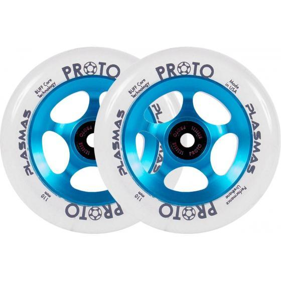 Proto Plasma Scooter Wheels Electric Blue 2 Pack
